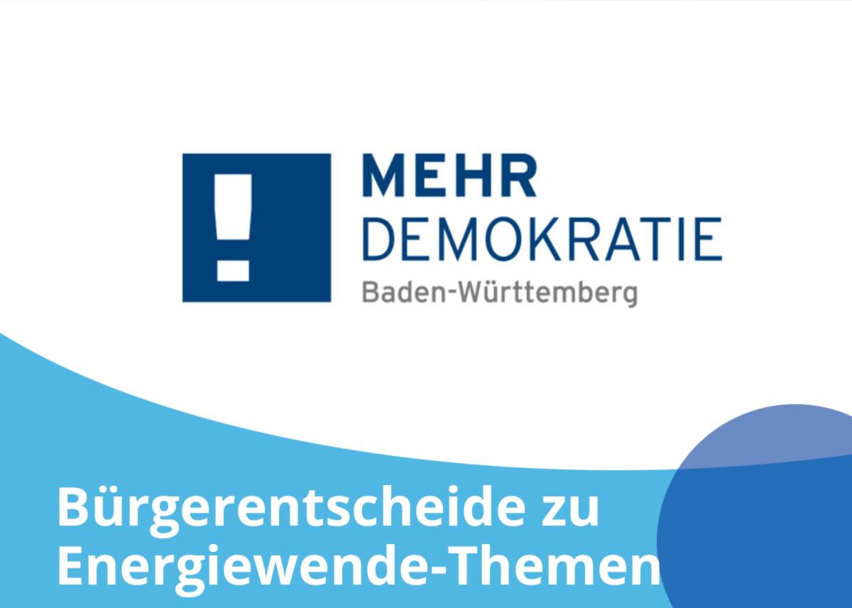 """Titelbild Projekt """"Bürgerentscheide zu Energiewende-Themen"""""""
