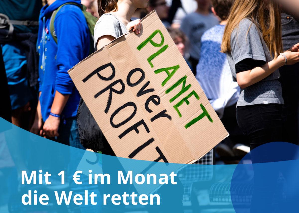 """Titelbild Projekt """"Mit 1 € die Welt retten"""""""