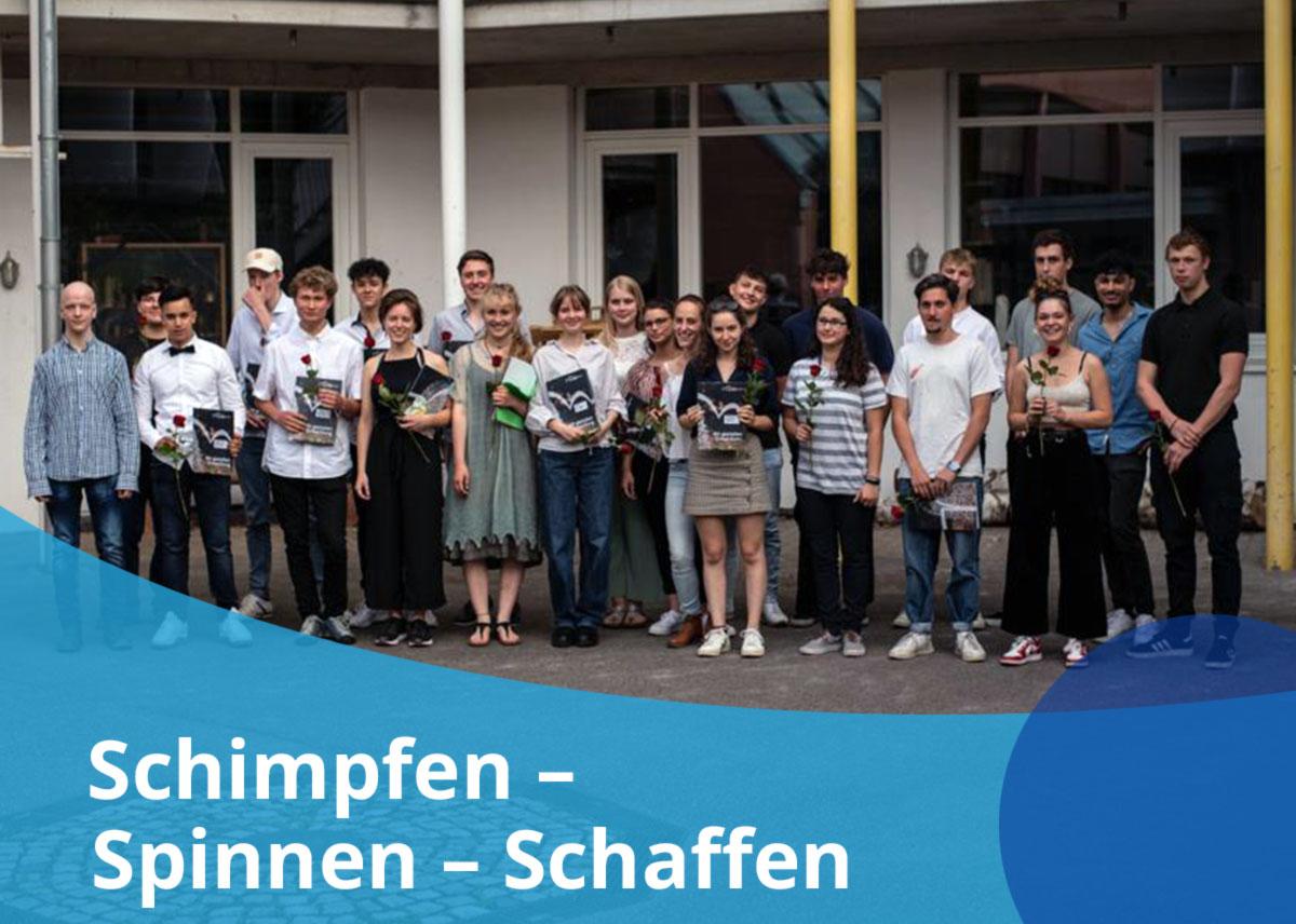 """Titelbild Projekt """"Schimpfen-Spinnen-Schaffen"""""""