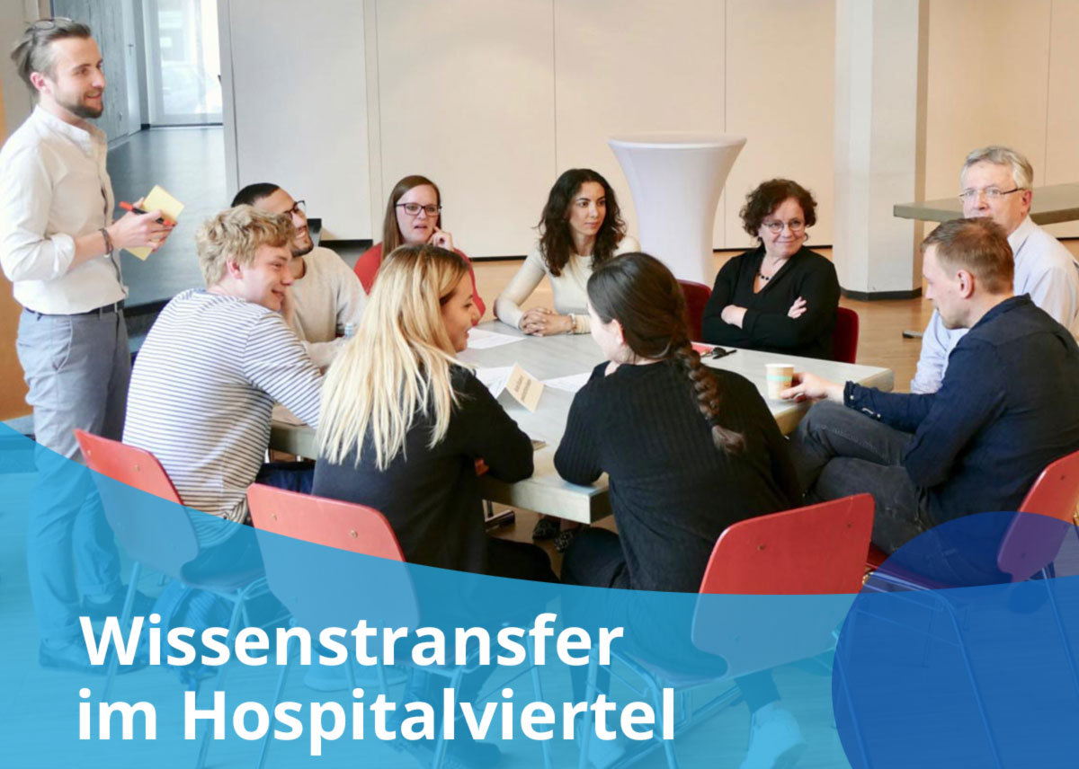 "Titelbild Projekt ""Wissenstransfer im Hospitalviertel"