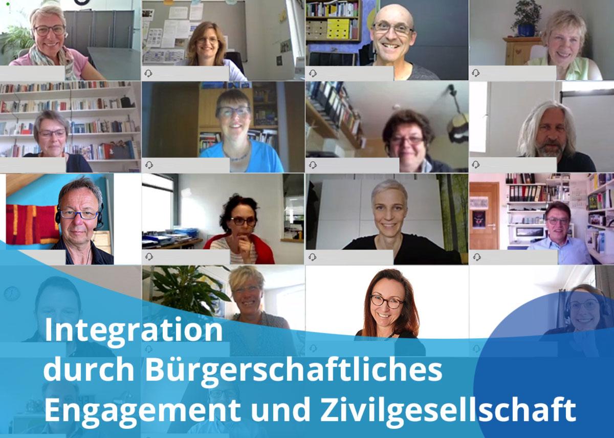 """Titelbild Projekt """"Integration durch Bürgerschaftlichen Engagement und Zivilgesellschaft"""""""