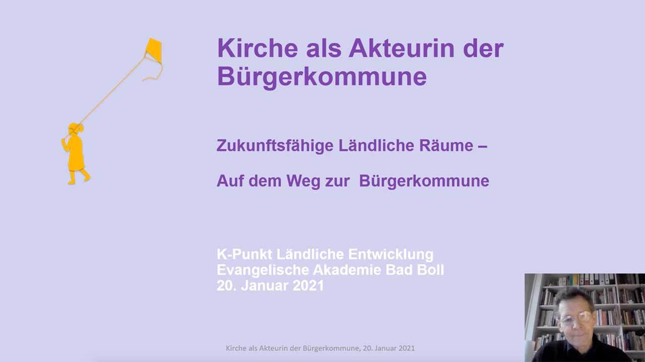 """Impulsvortrag """"Kirche als Akteurin der Bürgerkommune"""""""