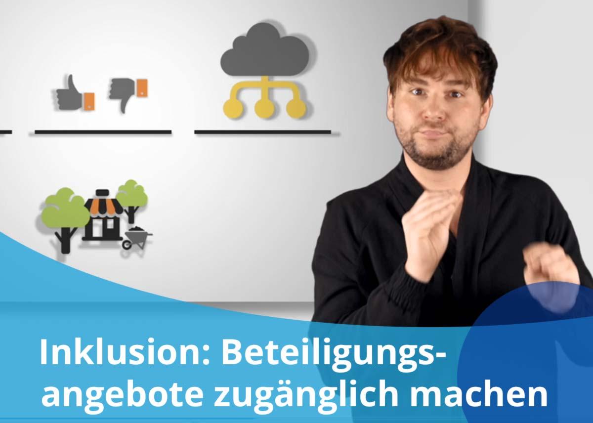 """Titelbild Projekt """"Inklusion: Beteiligungsangebote für alle zugänglich machen"""""""