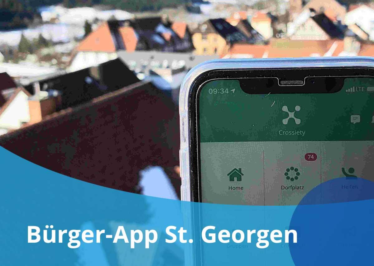 "Titelbild Projekt ""Bürger-App St. Georgen"""