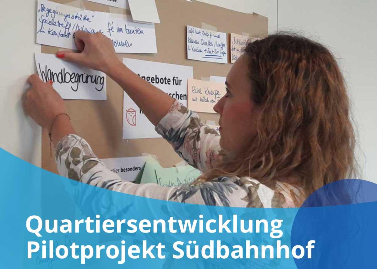 """Titelbild Projekt """"Quartiersentwicklung: Projekt Südbahnhof"""""""