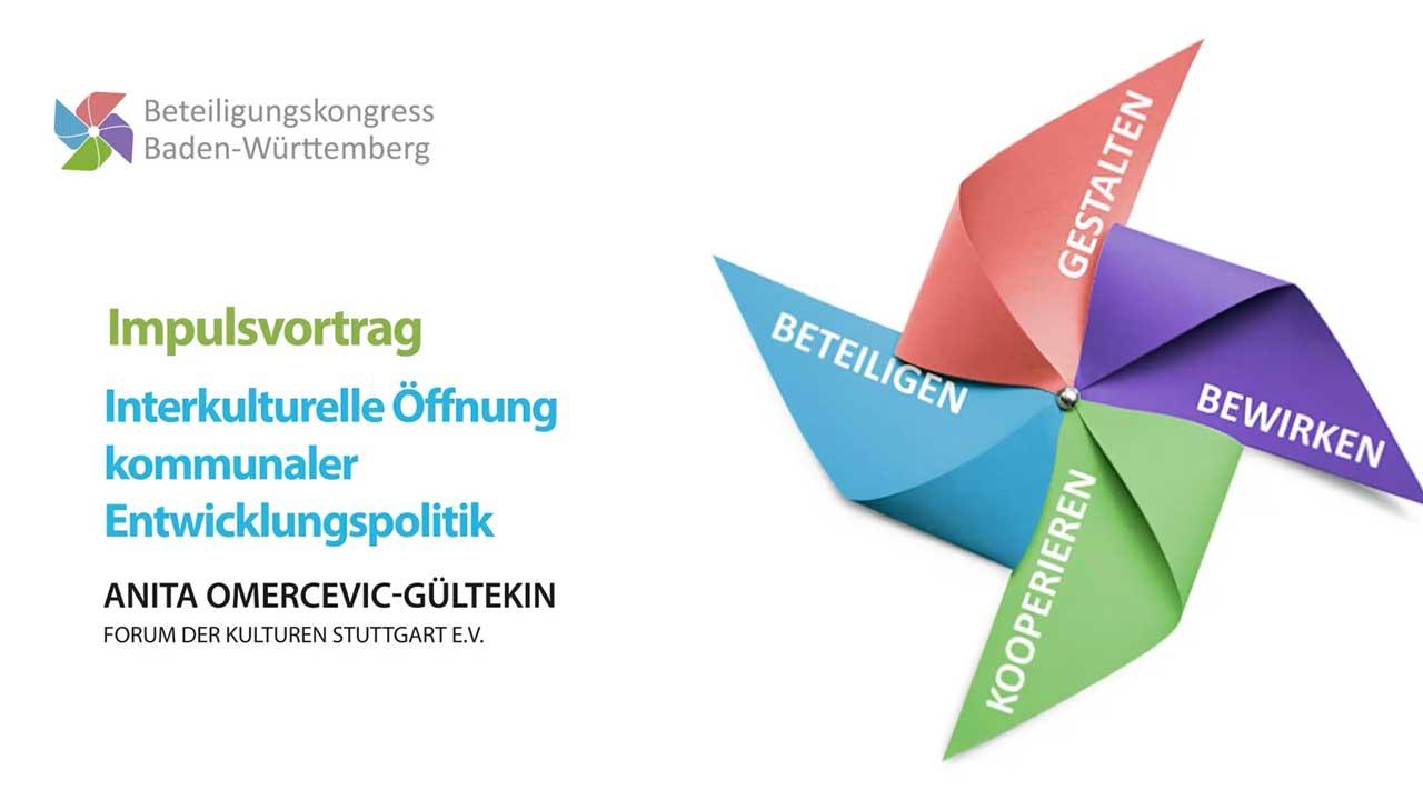 """Titelbild des Impulsvortrags """"Interkulturelle Öffnung kommunaler Entwicklungspolitik"""""""