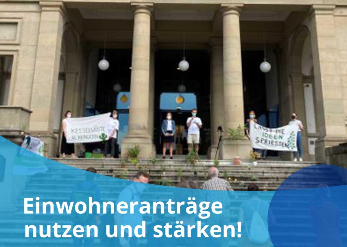 """Titelbild Projekt """"Einwohneranträge nutzen und stärken!"""""""